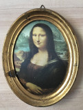 Tablou matase - decorativ / de colectie - rama de lemn - Mona Lisa