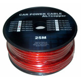 Cumpara ieftin Cablu de putere din aluminiu + cupru 4GA, 6.7 x 8.31 mm, 25 m, Rosu