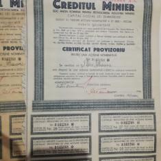 LOT 3 ACTIUNI CREDITUL MINIER 3000 LEI
