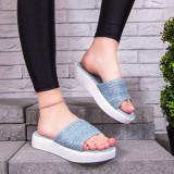 Papuci cu talpa groasa dama albastri Capsia