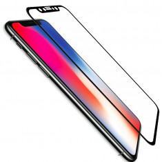 Folie de Sticla Cold Carving 5D Negru IPhone X tempered glass