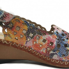 Sandale dama cu talpa ortopedica Rieker 66155 multicolore