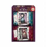Cumpara ieftin Puzzle Scufita Rosie, 2 x 100 piese, Educa