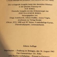 Die Bibel Die Heilige Schrift des Alten und Neuen Bundes ed. critica Herder 1969