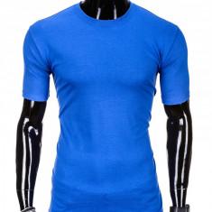 Tricou barbati, bumbac - S970-albastru