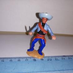bnk jc Figurina de plastic -  Timpo - mexican cu cutit