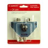 Cumpara ieftin Resigilat : Spliter coaxial Albrecht CX 201 Cod 7401 cu 2 cai pentru montaj 2 ante