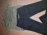 Set Mango, blue jeans + camasa navy