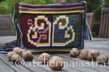 Cumpara ieftin Geantă handmade croșetată cu motiv tradițional din Dobrogea floarea pologului