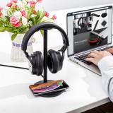 Incarcator Wireless QI cu suport casti Pt iPhone X, 11, 12 Samsung S20, Note 10