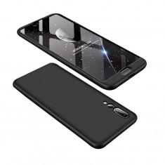 Husa Telefon Plastic Huawei P20 360 Full Cover Black