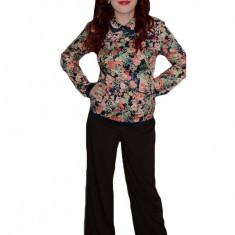 Pantalon vintage, de culoare maro, design simplu si elegant