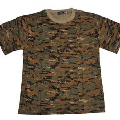 Tricou militar - camuflaj - woodland
