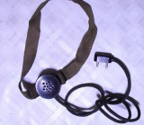 casca audio veche de colectie galena armata militara functionala ani 50
