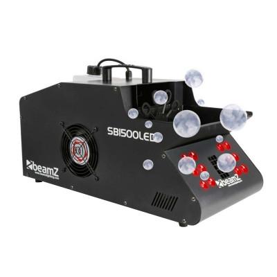 Masina de fum si baloane Beamz, 1500 W, 12 x LED, telecomanda foto