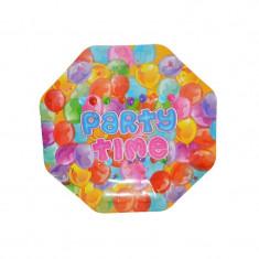 Farfurii carton, pt. party, 24 cm, 10 buc/set