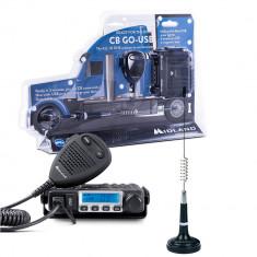 Aproape nou: Kit Midland CB GO-USB Statie radio CB M-MINI USB + Antena Midland LC29