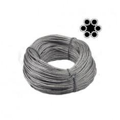 CABLU OTEL FLEXIBIL (6X12) - 6 MM x 100 M (CO)