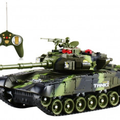 Tanc de lupta cu telecomanda si acumulator Power Tank marime mare D7-217J6B
