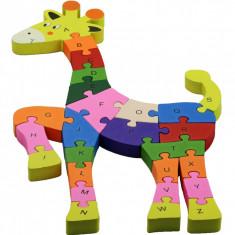 Puzzle Girafa jucausa lemn