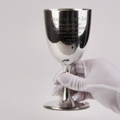 Pocal,pahar mare d argint masiv 925,an 1903 Anglia,IONIZARE PURIFICARE APA 400ML