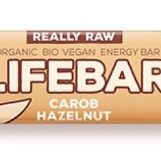 Lifebar baton cu alune si carob raw bio 47g