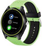 Smartwatch iUni V9 Plus, 1.3inch, 2MP, Bluetooth, Bratara silicon (Verde)