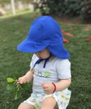 Palariuta albastra cu protectie UV UPF50+ (Marimi palarii - sepci: 12-18 luni)