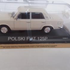 macheta polski fiat 125p + revista masini de legenda nr.27 - 1/43, noua.