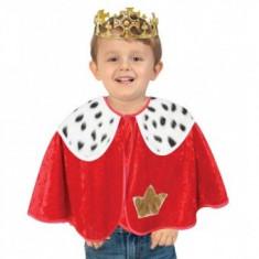 Set pelerina si coroana pentru deghizare Copii Rege 92 cm