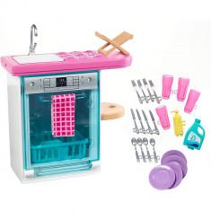Set Barbie - Masina de spalat vase cu accesorii