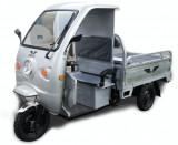 Triciclu Electric - Voltarom Hercules - Tuk Tuk - Camionetă Cu Cabină 297x130 Cm 3900W ARGINTIU