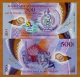!!! VANUATU - 500  VATU  2017, MINI JOCURILE PACIFICULUI - P NEW - UNC / POLIMER