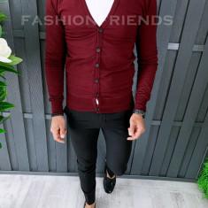 Bluza fashion barbati - cu nasturi - grena - COLECTIE NOUA A6442