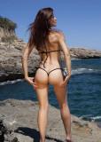 Bikini Tanga Mini G-string Chilotei Sexy Negru Negri Alb White Chiloti Reglabili