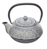 Ceainic din fonta Alb, cu infuzor detasabil,1 Litru