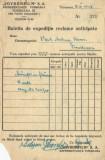 România, SOVROMFILM, buletin de expediție reclame anticipate, Timișoara, 1948