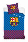 Lenjerie pat FC Barcelona, 140x200, 2 piese, model sah