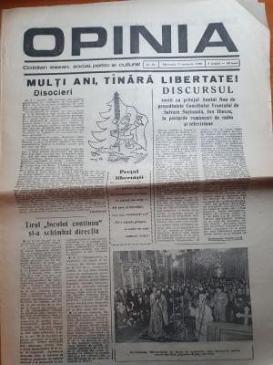 opinia 3 ianuarie 1990-discursul lui iliescu cu prilejul anului nou,revolutia foto