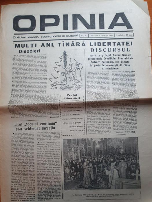 opinia 3 ianuarie 1990-discursul lui iliescu cu prilejul anului nou,revolutia