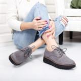 Pantofi Elnora gri casual