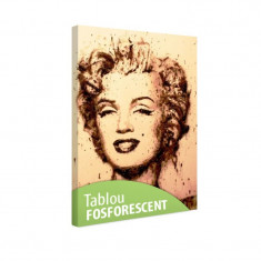 Tablou fosforescent Marilyn portret