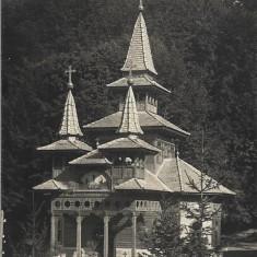 Carte postala Sovata Băi - biserica greco-catolică interbelica