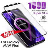 Folie sticla securizata curbata 100D FULL GLUE Samsung Galaxy S9 , S9 plus