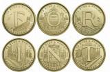 UNGARIA SET COMPLET 5 FORINT 2021 ANIVERSAREA DE 75 ANI NECIRCULATE UNC, Europa, Cupru-Nichel