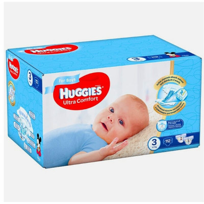 Scutece Huggies Ultra Comfort Nr.3, Baietei, 5-9 kg, 112 buc foto