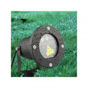 Proiector laser metalic exterior cu fulgi de zapada diverse forme si culori+gratis inel telefon in forma de inimioara