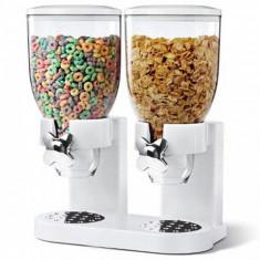 Dispenser de cereale, dublu, alb, Gonga
