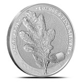 Moneda argint 999 lingou+cutie gratis, Frunza de stejar Germania 1 oz = 31 grame, Europa