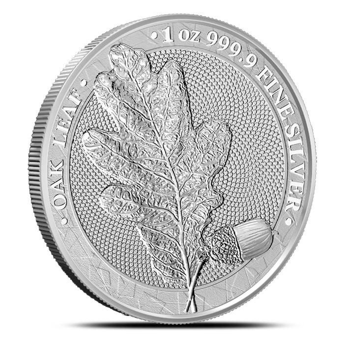 Moneda argint 999 lingou+cutie gratis, Frunza de stejar Germania 1 oz = 31 grame